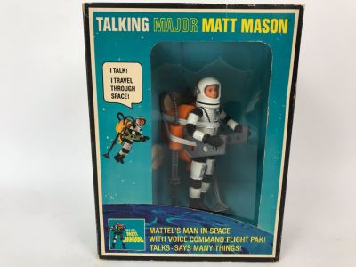 Rare Vintage 1969 Mattel New In Box Talking Major Matt Mason Space Action Figure Toy