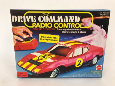 Vintage 1978 Mattel Drive Command Radio Control Ferrari 512 Racer New In Box
