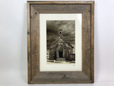 Limited Edition Hand Signed Photograph Titled 'Church' Bodie State Historic Park, CA In Rustic Wooden Frame By Roy Kerckhoffs Eyeball Photography 8' X 12'