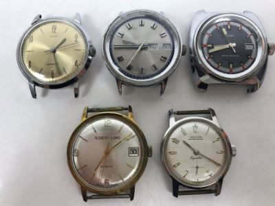 (5) Working Mechanical Watches - (3) Timex, (1) Robert Lang, (1) Croton