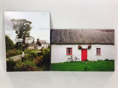 Pair Of Irish Photographs On Boards - One Of Right Is Signed By Photographer Morgan Janis