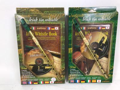 Pair Of New Irish Tin Whistles Retails $58
