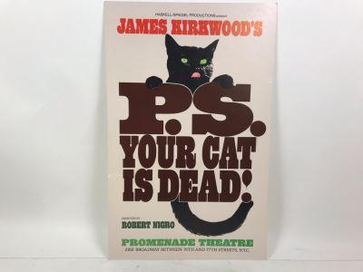 P.S. Your Cat Is Dead! James Kirkwood Cardboard Theatre Poster Promenade Theatre 2162 Broadway 14' X 22'