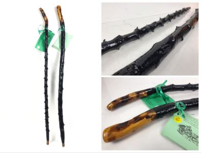 Pair Of Irish Blackthorn Walking Sticks - Similar Gifted To JFK And Ronald Reagan Retails $118