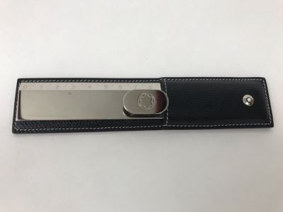 Montblanc Rare Stainless Steel Lifestyle Accessories Ruler With Black Leather Case