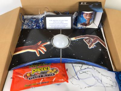 Exclusive E.T. Gift Box From Verizon To Client On The Major Re-Release Of E.T. The Extra Terrestrial With E.T. Coffee Cup And Collectible Movie Book - See Photos