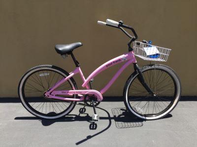 Pink Paul Frank Nirve The Skurvy Bike Beach Cruiser With 7' WordLock Bike Lock