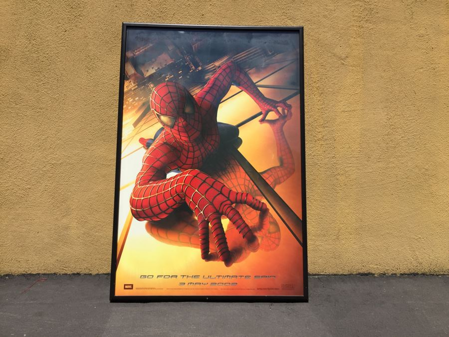 Vintage 2002 Marvel Spider-Man Movie Poster Framed [Photo 1]