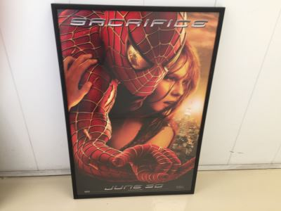 Vintage 2002 Marvel Spider-Man Movie Poster Framed