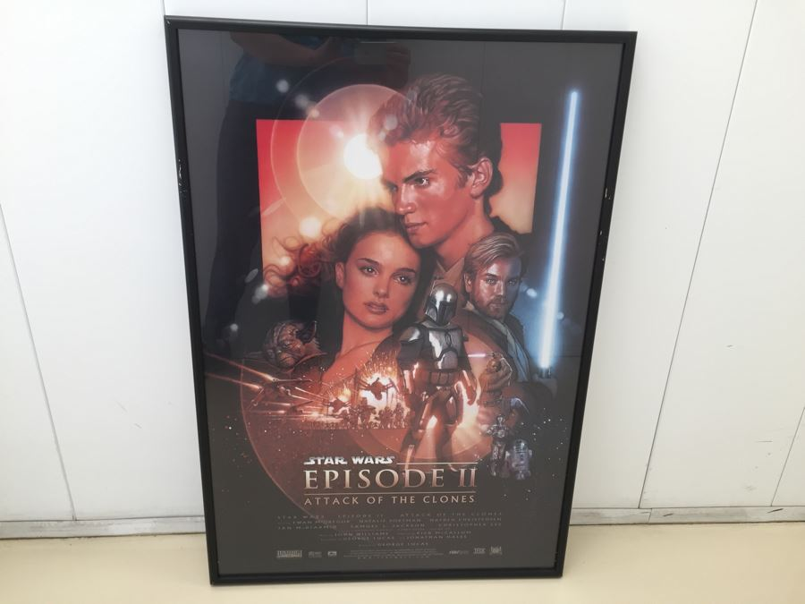 Vintage Stars Wars Episode II Attack Of The Clones Movie Poster Framed [Photo 1]