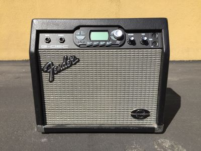 Fender G-Dec Guitar Digital Entertainment Center Amplifier, Leather Guitar Strap, 18.5' Guitar Amp Cord, Dean Markley Pickup And Microphone - See Photos