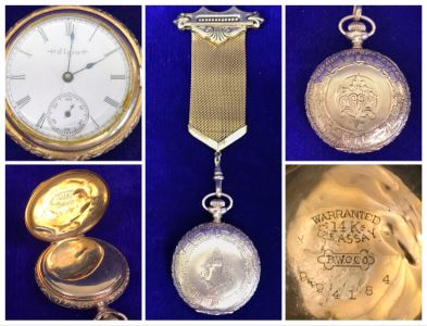 Antique 1867-1881 Elgin 14K Gold Case Pocket Watch 15 Jewels With Brooch Pin Holder - Pocket Watch Alone Weighs 30.1g