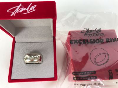 Pair Of Stan Lee Excelsior Rings (One Sealed Ring) From The Stan Lee Collection By ByGeorge!