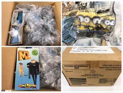 Box Loaded With Carl's Jr Despicable Me Movie Promotional Happy Meal Toys - See Photos