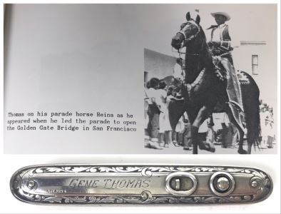 Sterling Silver Pocket Knife Of Gene Thomas Early Pioneer Orange County Rancher Who Led Parade To Open The Golden Gate Bridge In San Francisco 45.3g
