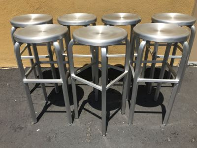 (7) Metal Barstools Chairs 30.5'H X 18'W