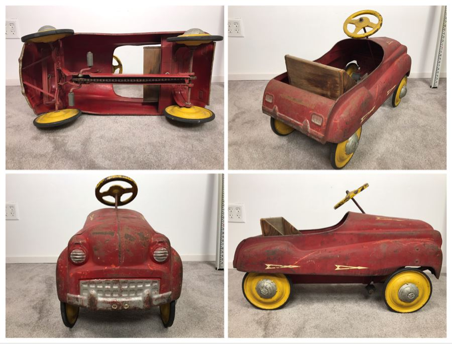 Original Vintage Mid-Century Murray Pressed Steel Pedal Car Working Chain Driven Minimal Rust [Photo 1]