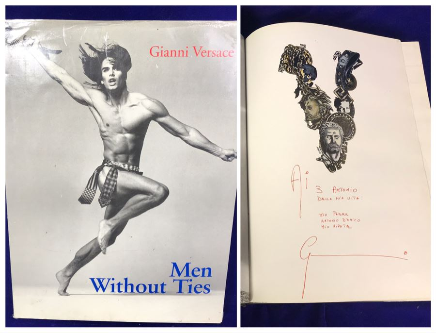 Large Hardcover Coffee Table Book Gianni Versace Men Without Ties Retails $75 [Photo 1]