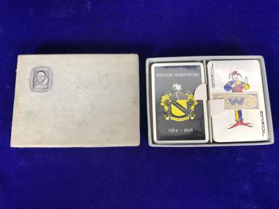 Vintage Sealed Dual Twin Boxed Set Pack Of William Shakespeare Playing Cards By John Waddington Ltd