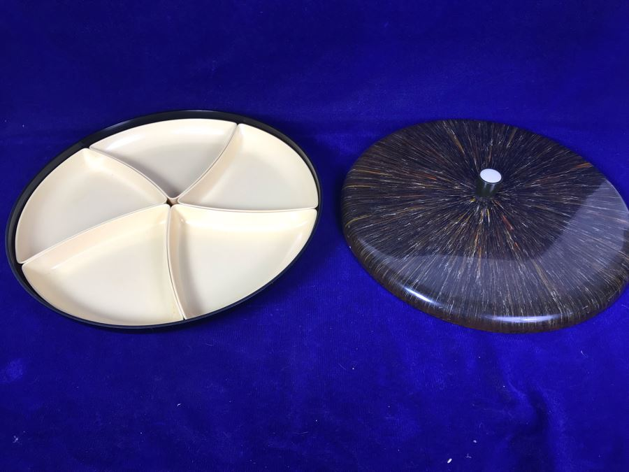 Divided Japanese Mid-Century Tray With Lid By OMC [Photo 1]