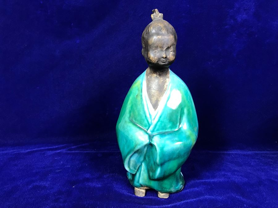 Vintage 1962 MCM Vohann Of California Asian Figurine 10'H [Photo 1]