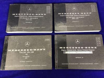 Set Of (4) Vintage Mercedes-Benz Catalog Books