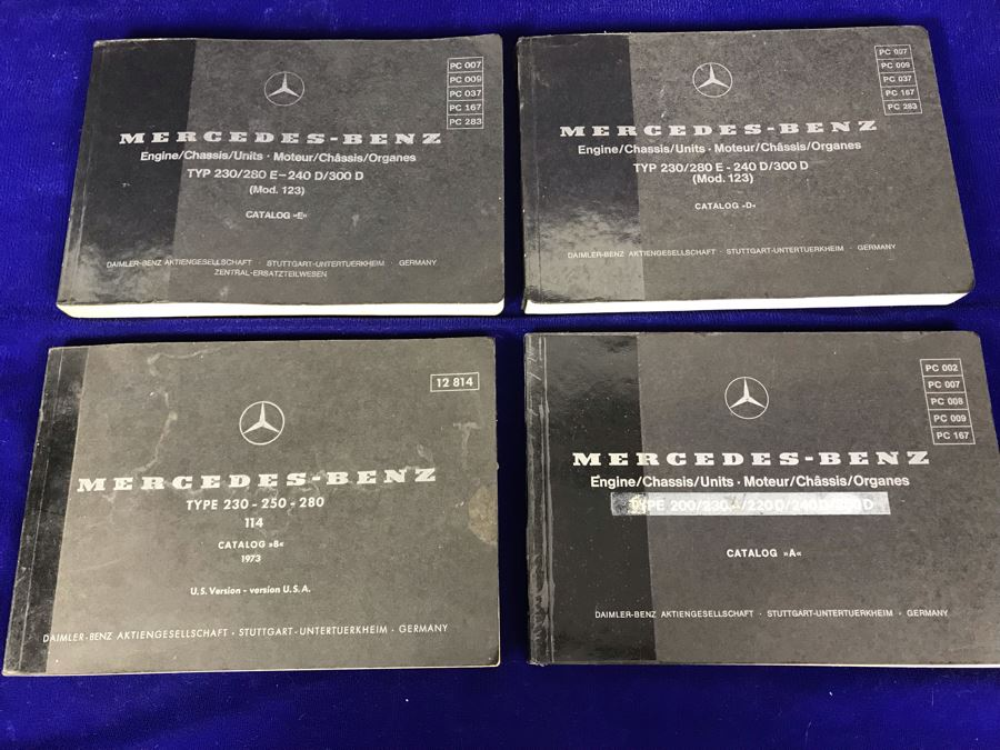 Set Of (4) Vintage Mercedes-Benz Catalog Books [Photo 1]