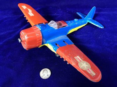 Vintage Hubley Metal Airplane Kiddie Toy 495
