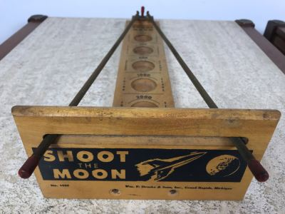 Vintage Original 1959 Shoot The Moon Space Game By Wm. F. Drucke & Sons, Grand Rapids, Michigan 19'L