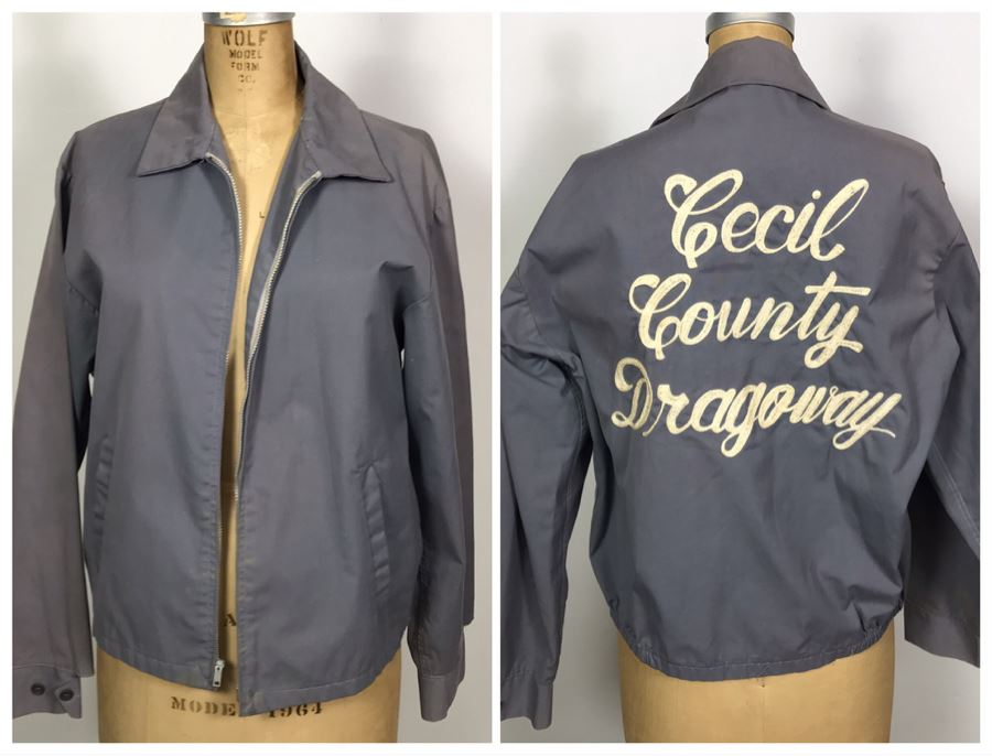 Vintage Cecil County Dragway Jacket Size M [Photo 1]