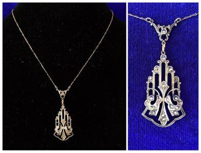 Vintage Sterling Silver Pendant Necklace 4.3g