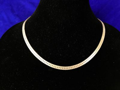 Sterling Silver Chain Necklace 28.8g