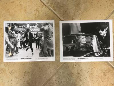 (2) Vintage 1980 The Blues Brothers Movie Memorabilia 8 X 10 Photos Dan Aykroyd