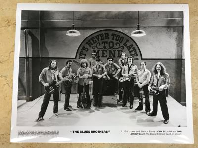 Vintage 1980 The Blues Brothers Movie Memorabilia 8 X 10 Photo John Belushi And Dan Aykroyd