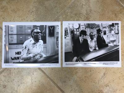 (2) Vintage 1980 The Blues Brothers Movie Memorabilia 8 X 10 Photos Ray Charles