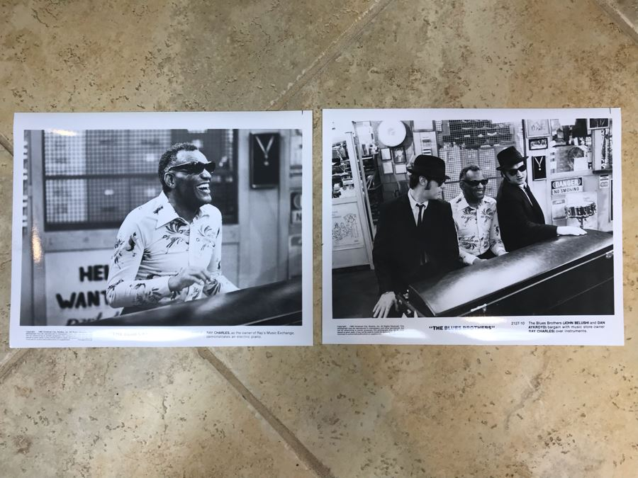 (2) Vintage 1980 The Blues Brothers Movie Memorabilia 8 X 10 Photos Ray Charles [Photo 1]