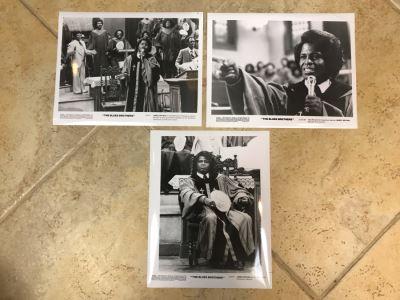 (3) Vintage 1980 The Blues Brothers Movie Memorabilia 8 X 10 Photos James Brown