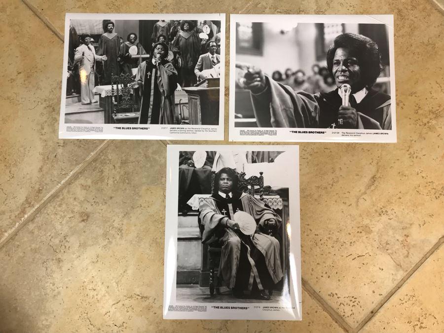 (3) Vintage 1980 The Blues Brothers Movie Memorabilia 8 X 10 Photos James Brown [Photo 1]