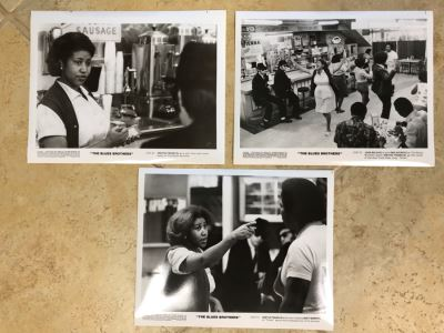 (3) Vintage 1980 The Blues Brothers Movie Memorabilia 8 X 10 Photos Aretha Franklin