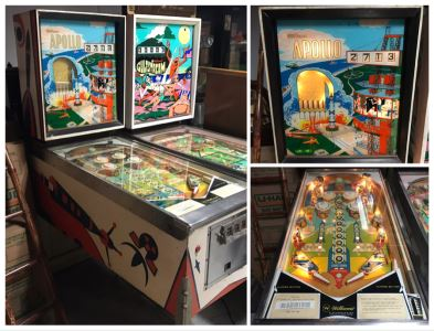 Rare 1967 Williams Apollo Pinball Machine Working - Man On Moon Race To Space Era - See Photos