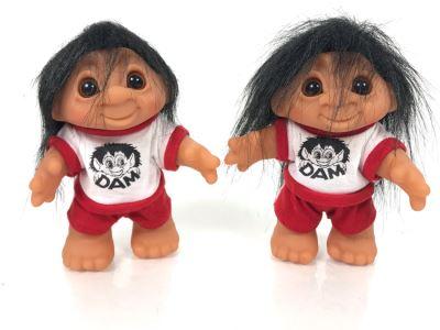 Pair Of Vintage DAM Troll Dolls By Thomas Dam From Denmark Troll Company 6'H