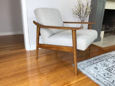 West Elm Mid-Century Danish Modern Style Armchair Retails $700