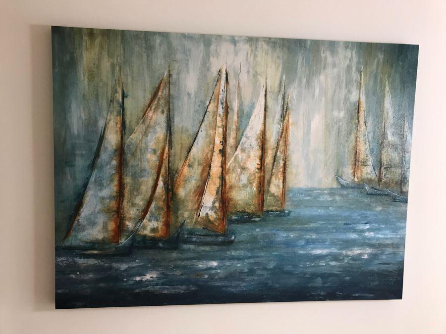 Canvas Sailing Sailboats Print 60 X 45 [Photo 1]