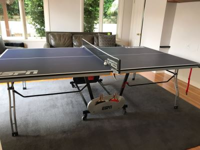ESPN Folding Portable Ping Pong Table With (4) Paddles And Balls 108L X 60W X 36H