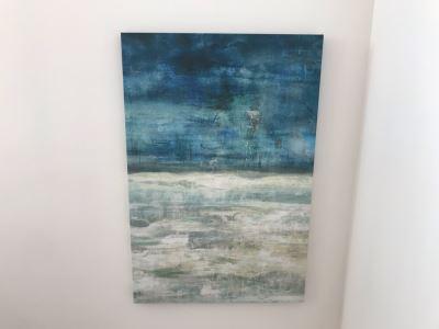 Canvas Print Wall Artwork Memory Of Blue 30 X 45