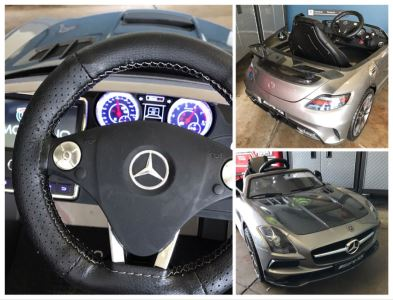 Mercedes SLS AMG Toy Battery Powered Kids Car With Remote