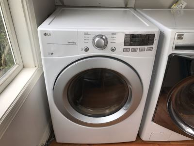 LG Front Load Electronic Dryer Model No DLE3170W With Sensor Dry