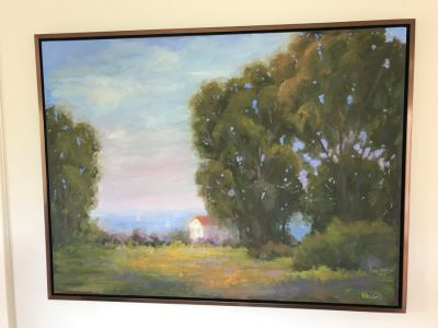 Original Plein Air Oil Painting Signed By Kathleen M Robison Laguna Beach 36 X 48 Retails $2,900