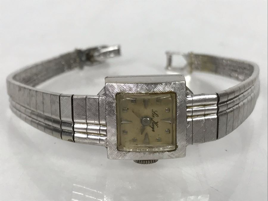 JUST ADDED - Vintage 14K Gold Women's Watch And 14K Gold Watch Band Lee Kaye 19.3g [Photo 1]