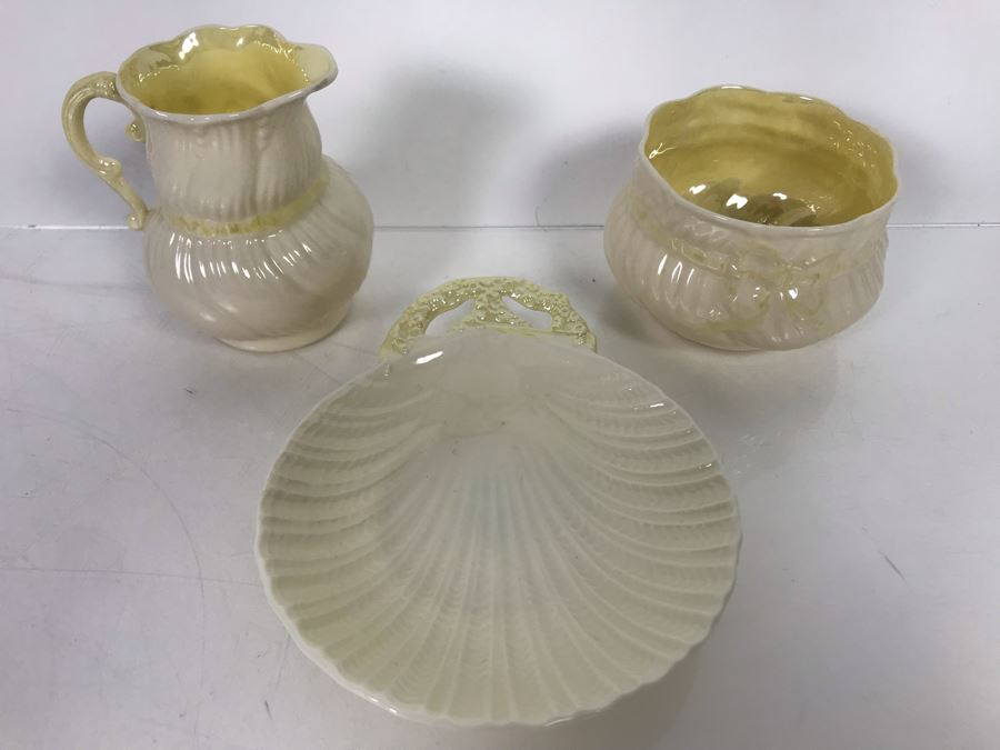JUST ADDED - 3-Piece Irish Belleek China Lot [Photo 1]